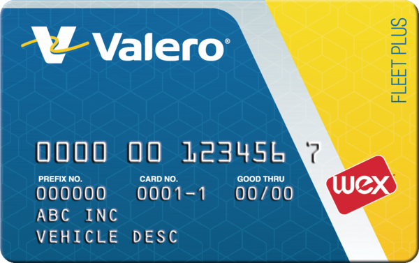 Valero Fleet Plus Card